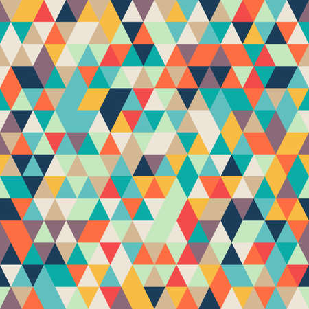 Seamless Abstract Colorful background with triangle pattern