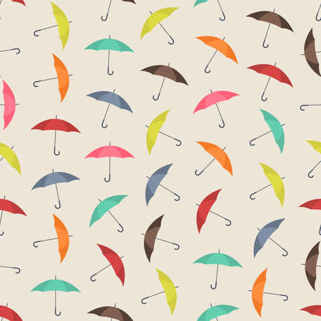 Seamless colorful background made of umbrella