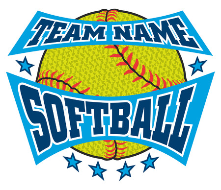 Textured Softball Team Name Design is an illustration of a softball design with a banner for your team name. Can be used by you or your team for t-shirts, flyers, ads, jerseys or any promotional materials.