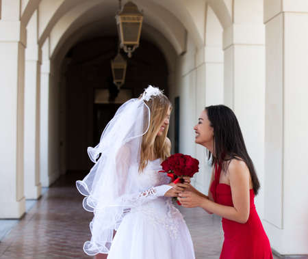 Bride and her Maid of Honor _Best friend