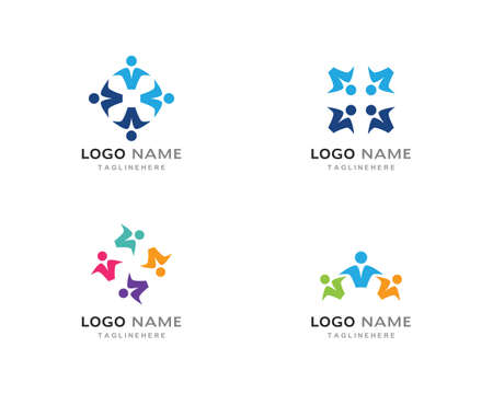Illustration pour Adoption and community care   template vector icon - image libre de droit