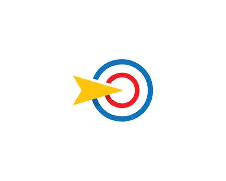 Illustration pour Target icon vector illustration template - image libre de droit