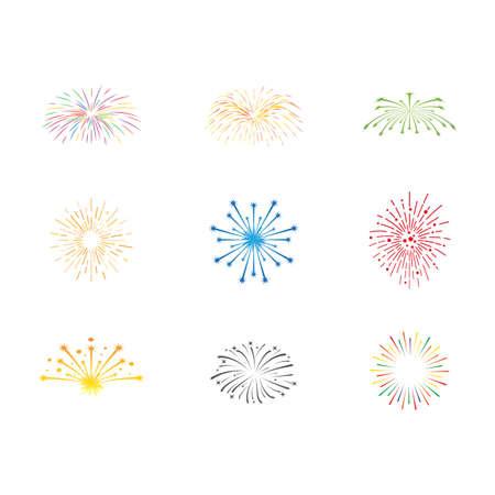 Illustration for Firework illustration template vector design - Royalty Free Image