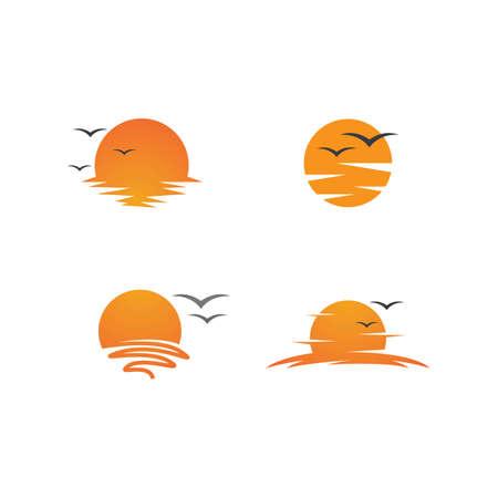 Illustration pour sun illustration  logo vector template - image libre de droit
