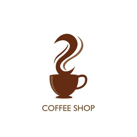 Illustration pour Coffee shop  Template vector icon design - image libre de droit