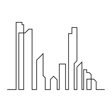 Illustration for Modern City skyline . city silhouette. vector illustration in flat design - Royalty Free Image