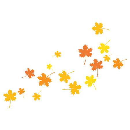 Illustration for autumn Leaf background template vector illustration - Royalty Free Image