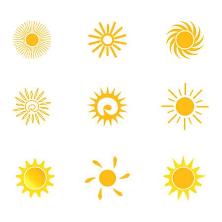 Illustration pour sun     vector icon template - image libre de droit