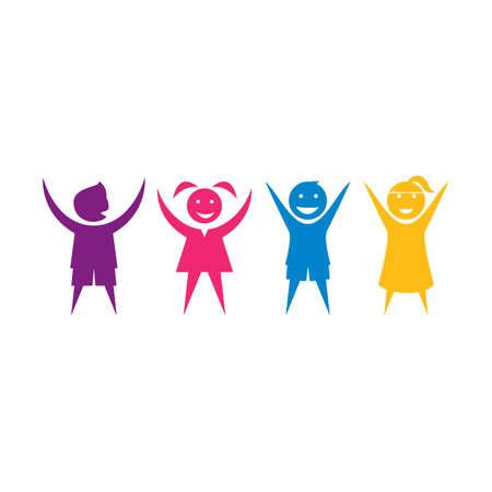 Illustration pour kids play and community   concept vector template - image libre de droit