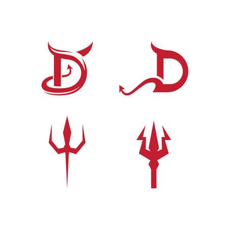 Illustration for Devil logo ilustration vector template - Royalty Free Image