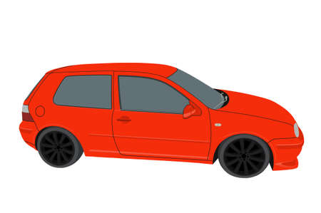 Personal car on white background