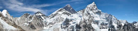 Mount Everest panoramic photo was taken from the top of Kala Pattar