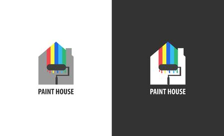 Illustration for Real estate logo isolated. House vector image - Royalty Free Image