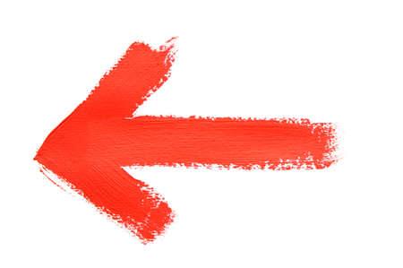 Photo pour hand painted red arrow - image libre de droit