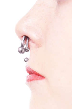 septum and medusa piercings