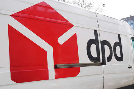 Hannover, Germany - March 2, 2020: dpd logo and brand on delivery van. DPD stands for Dynamic Parcel Distribution or Deutscher Paket Dienst in German.