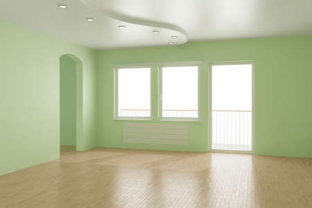 Empty room,   3d illustration