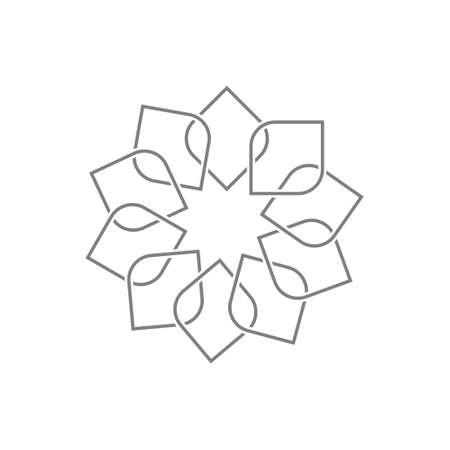Photo pour Geometric oriental arabic pattern. Logo. Element for your design - image libre de droit