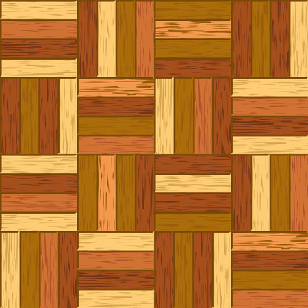 Abstract decorative old textured parquet floor vector background. Seamless tiling. Parquet hardwood material illustration