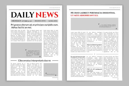 Illustration pour Newspaper template design. - image libre de droit