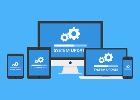 Illustration for System update set - Royalty Free Image