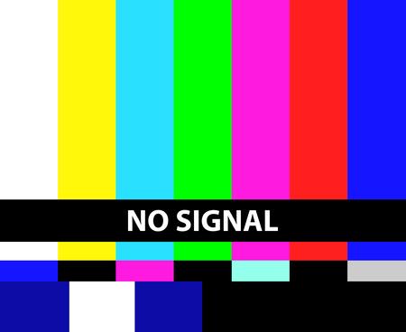 Illustration pour No TV signal illustration - image libre de droit