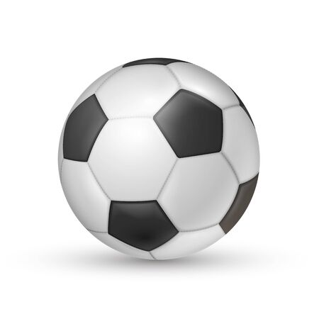 Illustration pour Soccer ball icon, football game sport for competition - image libre de droit