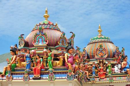 Hindu Temple With Deities Statues