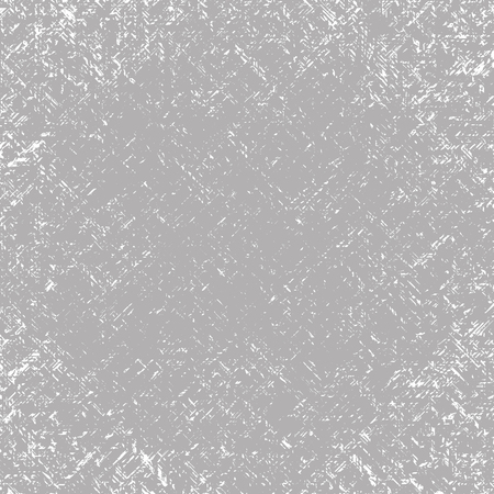 Photo pour Vector textured square scratched gray-white grunge abstract background. Imitation of a wall with unevenly scratched plaster - image libre de droit