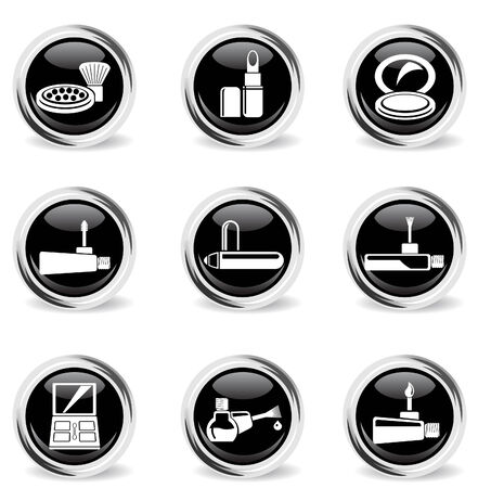 make-up products chrom icons