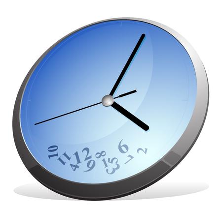 Vector illustration of clock