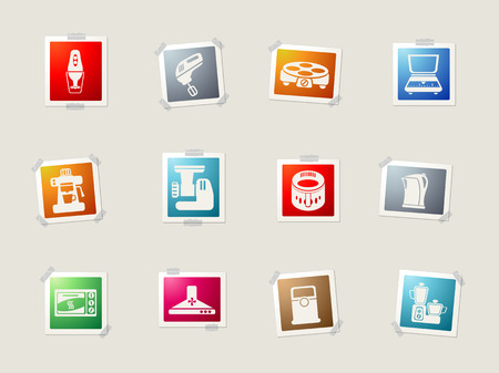 Kitchen Utensils card icons for web