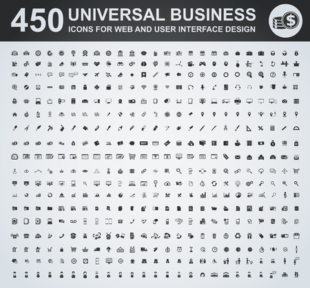 Photo pour Business icon set for web and user interface - image libre de droit