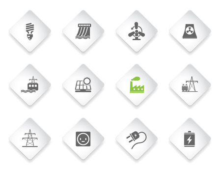 Energy and Industry  simply symbols for web and user interface
