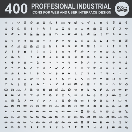 Ilustración de Professional industrial icons for web and user interface - Imagen libre de derechos