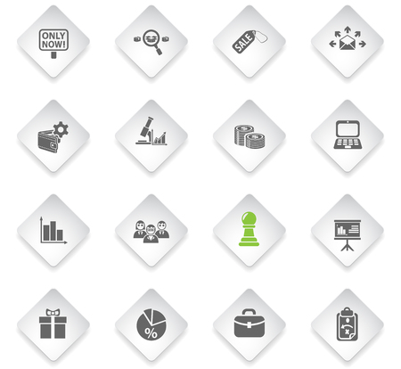 marketing flat web icons for user interface design
