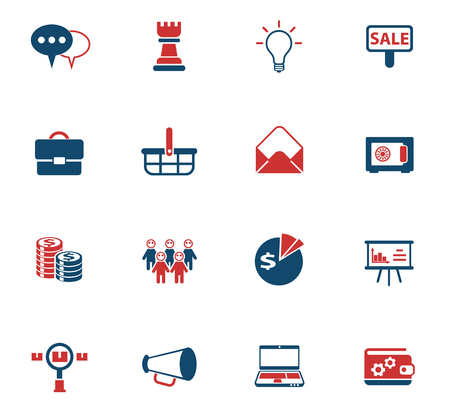 marketing vector color icons for web and user interface design