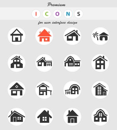 Illustration pour house type web icons for user interface design - image libre de droit