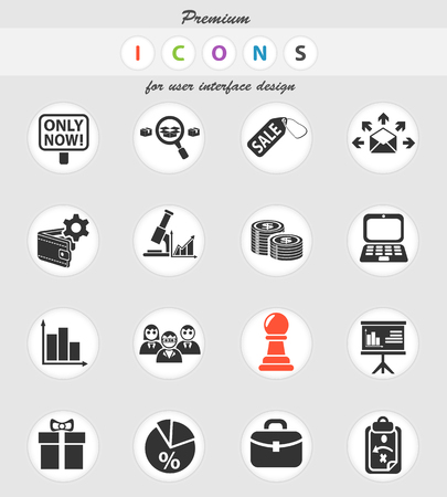 marketing web icons for user interface design