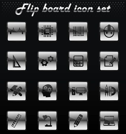 engineering vector flip mechanical icons for user interface design