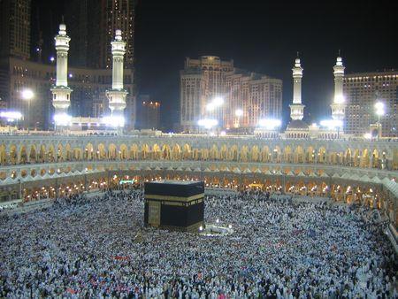 Night Kaaba in Mecca