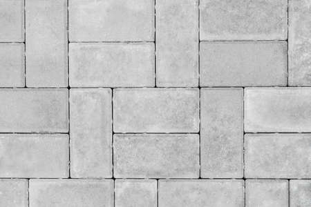 Photo for Gray paving slabs urban street road floor stone tile texture background, top view. - Royalty Free Image