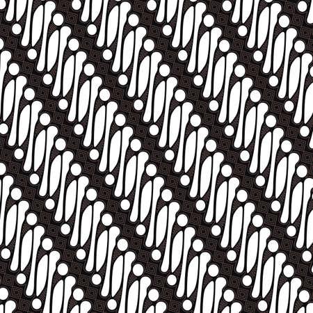 Illustration pour Batik Parang Jogja, Indonesian motif, Batik is a technique of wax-resist dyeing applied to whole cloth. Geometric ethnic pattern traditional Design for background, fabric. - image libre de droit