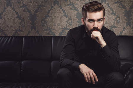 Portrait of stylish handsome man with a beard