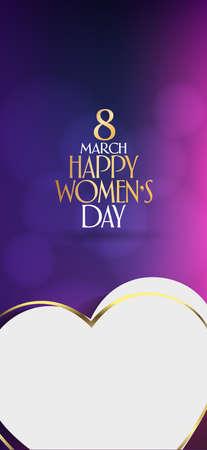 Illustration pour 8 March. International Happy Women's Day Celebration. Billboard, Poster, Social Media, Greeting Card template. - image libre de droit