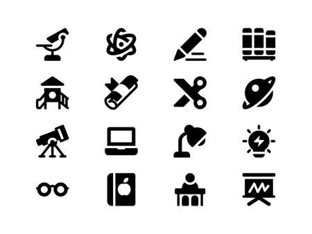 Illustration pour Icons For Web Mobile and Print, designed in the 32x32 pixel grid (scale 3x) with the outer 2 pixels - image libre de droit