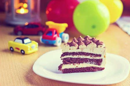 Birthday cake. Vintage image