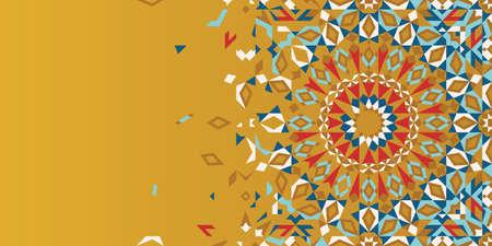 Morocco Disintegration Template Islamic Mosaic Design