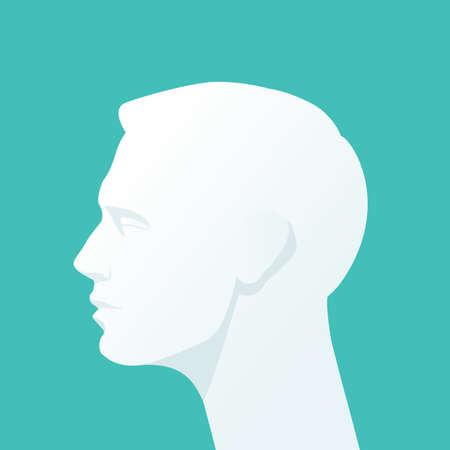 Illustration for Human head. Vector Flat illustration. - Royalty Free Image