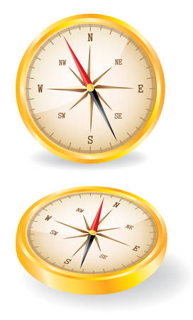 Vector illustrated compass